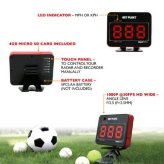 Net Playz Smart Pro Speed Vision Multi-Sport Personal WiFi Speed Radar &  Remote Control Wristband Set