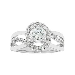 Boston Bay Diamonds 14k White Gold 1 Carat T.W. IGL Certified Diamond Bypass Engagement Ring