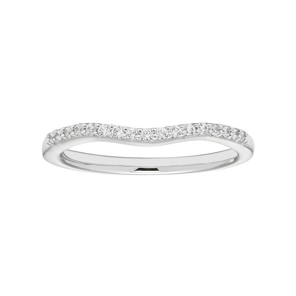Boston Bay Diamonds 14k White Gold 1/10 Carat T.W. Diamond Wedding Ring