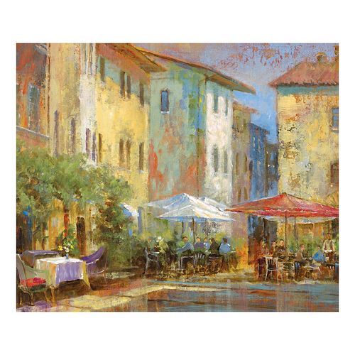 Courtyard Cafe Canvas Wall Art