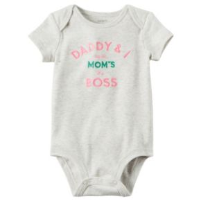 """Baby Girl Carter's """"Daddy & I Agree Mom's The Boss"""" Graphic Bodysuit"""