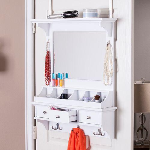 Dratch Over-the-Door Jewelry, Makeup Mirror & Accessory Storage