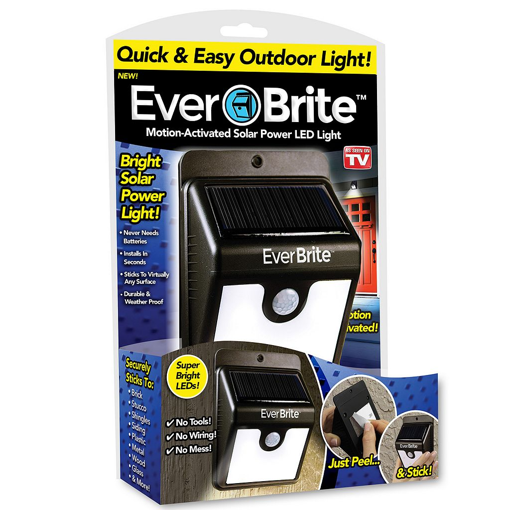 As Seen on TV Ever Brite Motion-Activated Solar Outdoor LED Light