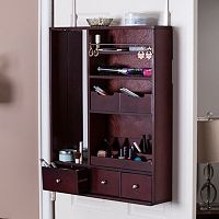 Jenson Over-the-Door Jewelry, Makeup Mirror & Accessory Storage