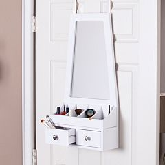 Linda Over-the-Door Jewelry, Makeup Mirror & Accessory Storage