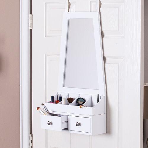 Linda Over-the-Door Jewelry, Makeup Mirror & Accessory Storage