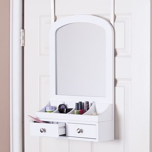 Marissa Over-the-Door Jewelry, Makeup Mirror & Accessory Storage