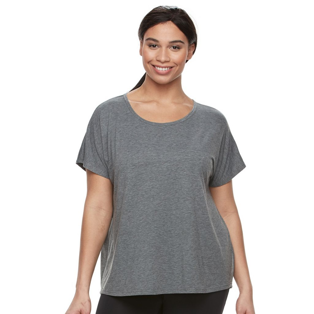 Plus Size Tek Gear® On-The-Go Mesh Keyhole Tee