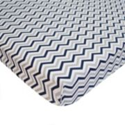 TL Care Zigzag Mini Crib Sheet