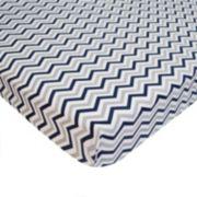 TL Care Zigzag Mini Crib Sheet