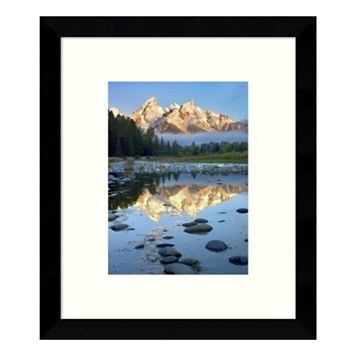 Grand Tetons Reflected In Water, Grand Teton National Park, Wyoming Framed Wall Art