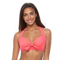 Women's Apt. 9® Bow-Front Halter Bikini Top