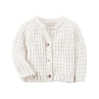Baby Girl Carter's Textured Cardigan Sweater
