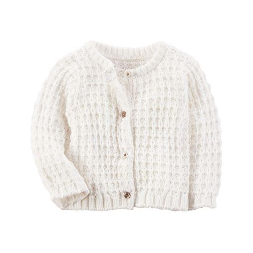 Baby Girl Carter's Textured Cardigan Sweater