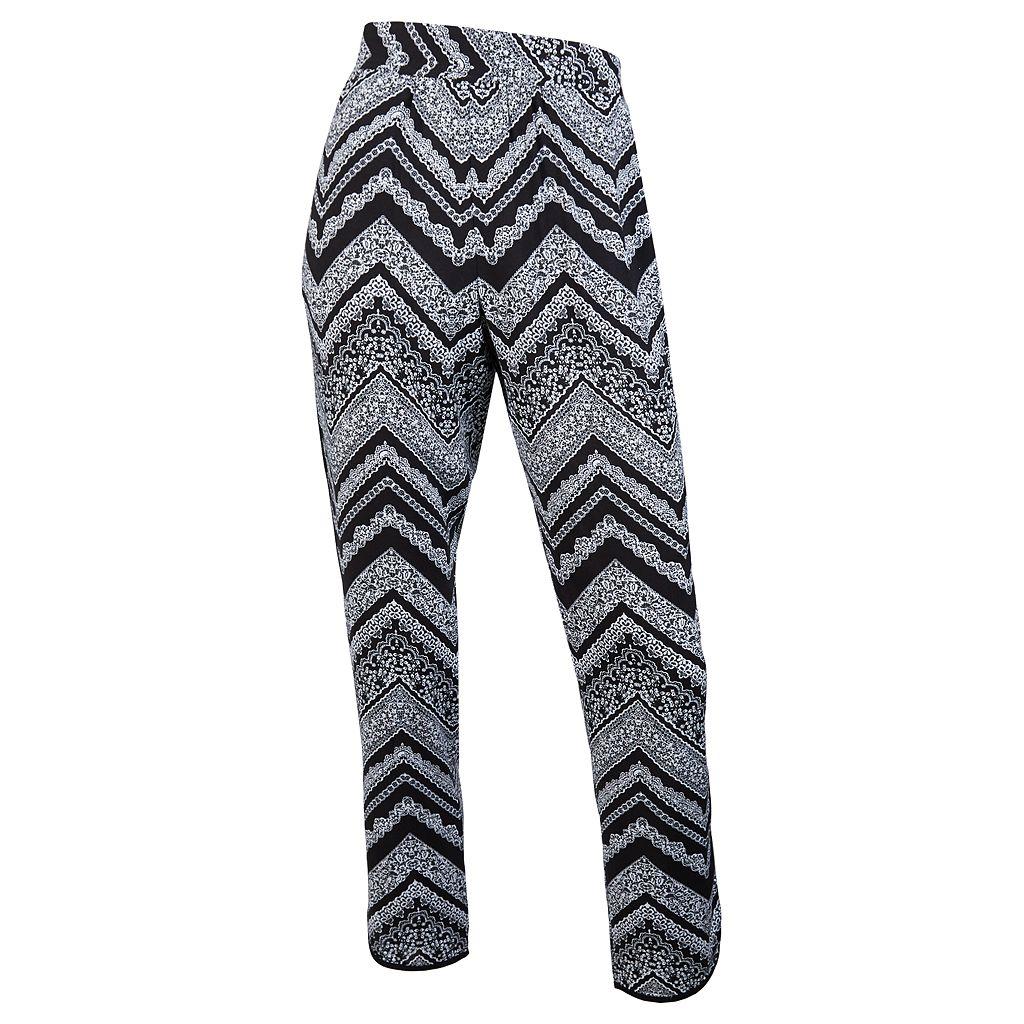 Juniors' IZ Byer Graphic Print Woven Pants