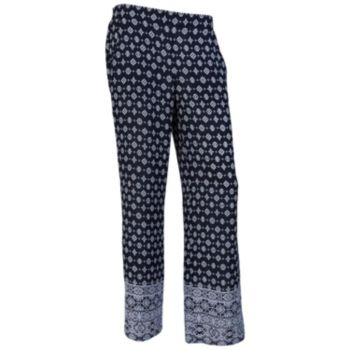 Juniors' IZ Byer Print Soft Pants