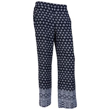 Juniors' IZ Byer Print Soft Pants