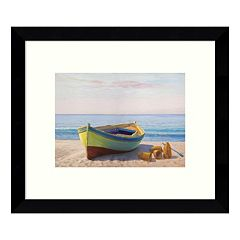 Al Mattino Boat Framed Wall Art