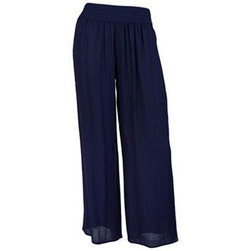 Juniors' IZ Byer Wide Leg Crepe Pants