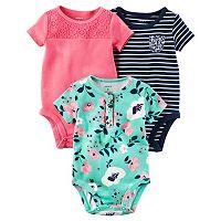 Baby Girl Carter's 3-pk. Floral Bodysuits