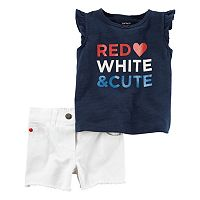 Baby Girl Carter's Patriotic Tank Top & Shorts Set