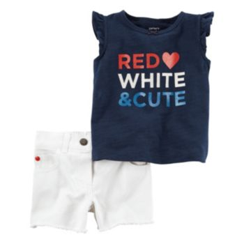 Baby Girl Carter's Patriotic Tank Top & Shorts Set