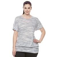 Plus Size Tek Gear® Banded-Bottom Crewneck Tee