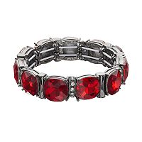 Simulated Crystal Circle Stretch Bracelet