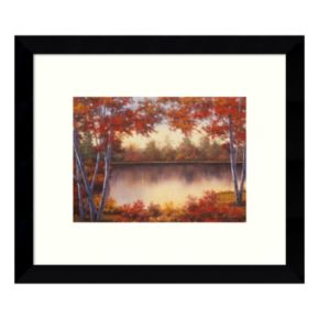 Red & Gold Autumn Landscape Framed Wall Art