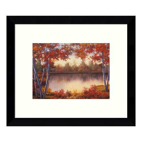 Red & Gold Autumn Landscape Framed Wall Art