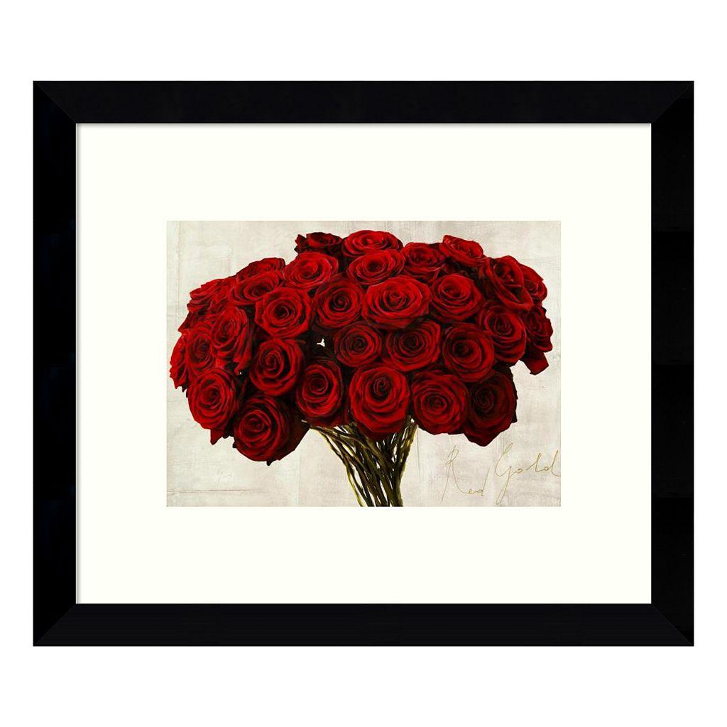 Red Gold (Roses) Framed Wall Art