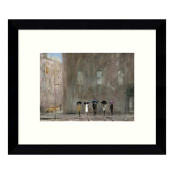 Waiting for a Cab - Park Avenue Framed Wall Art