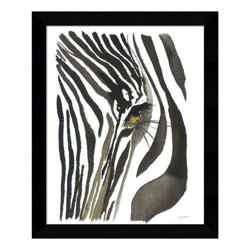Zebra Eye Framed Wall Art