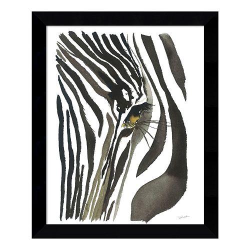 Zebra Eye Framed Wall Art