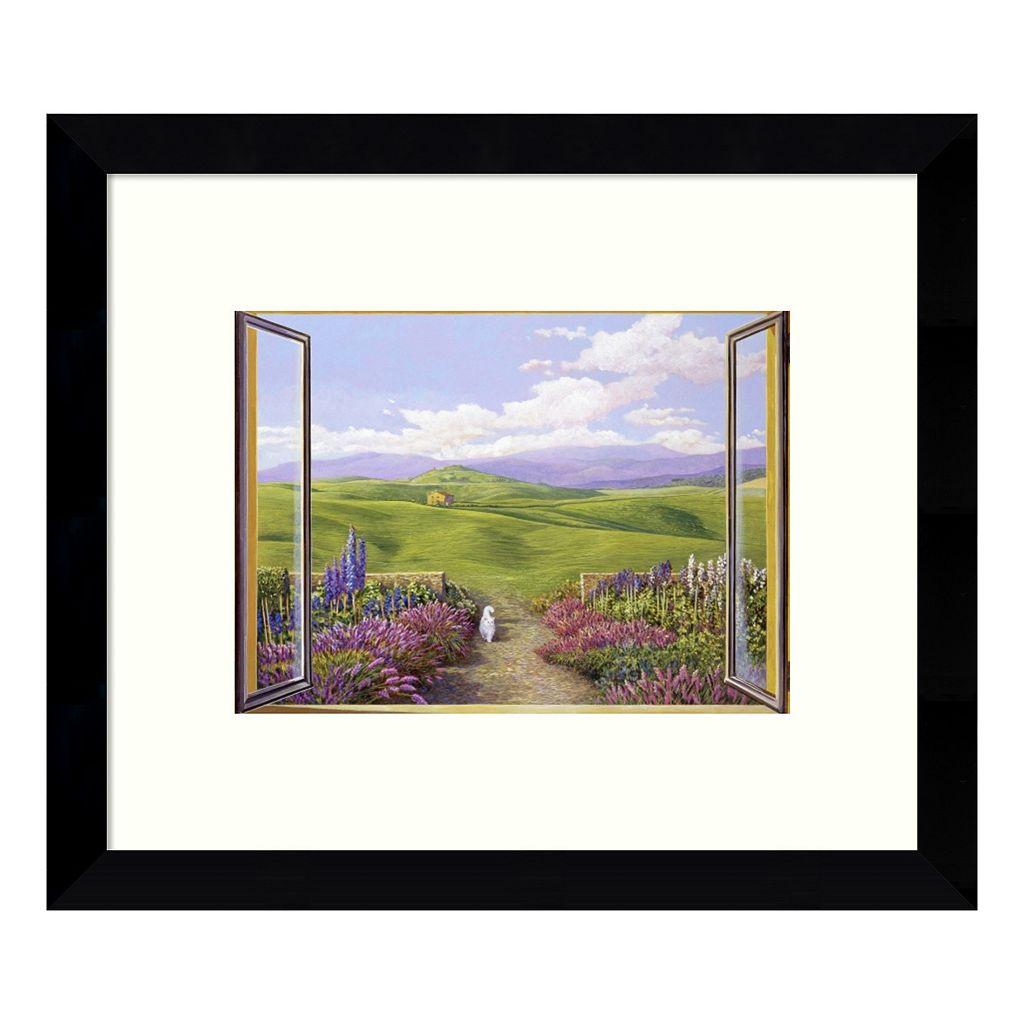 Paesaggio Toscano (Window View) Framed Wall Art