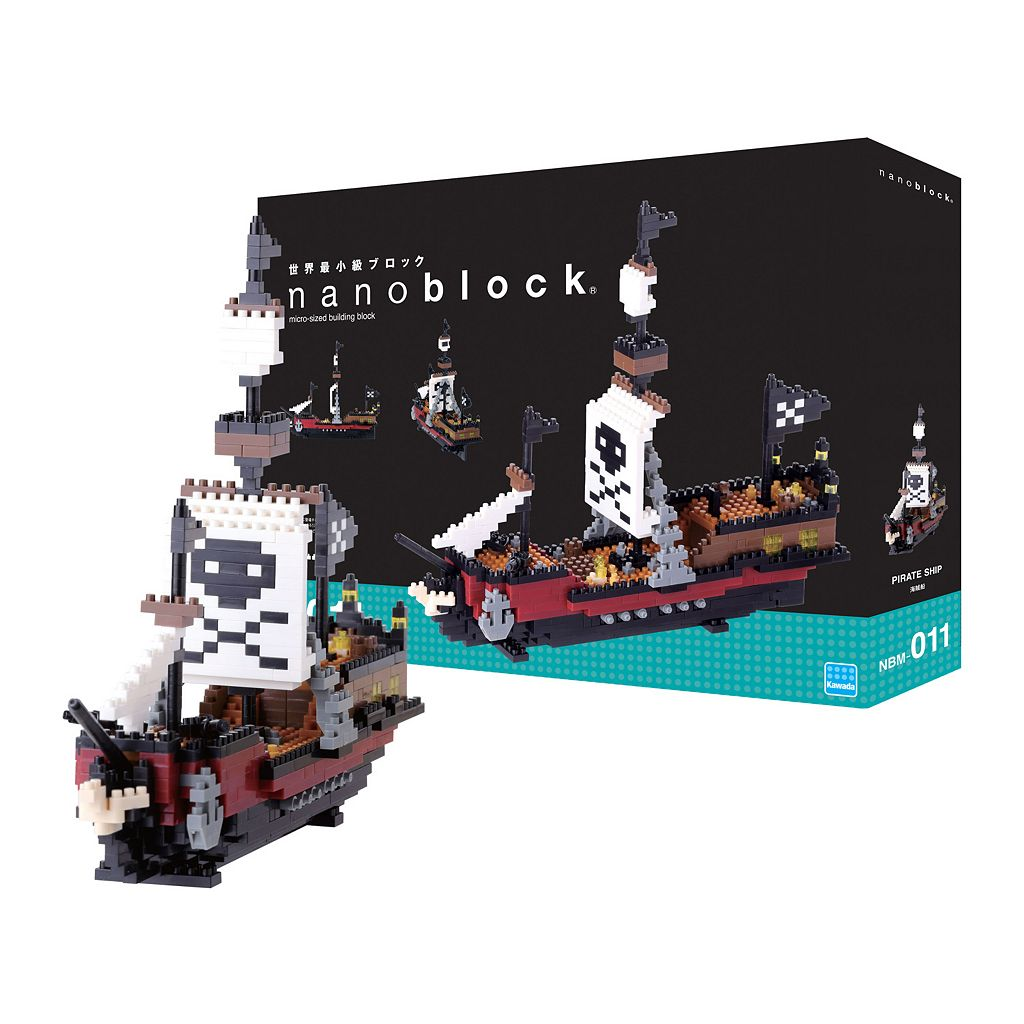 nanoblock Level 5 Pirate Ship 3D Puzzle