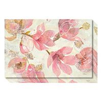 Magnolias In Bloom On White Canvas Wall Art