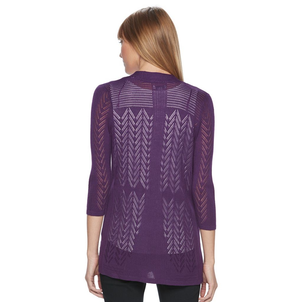Women's Croft & Barrow® Open Front Cardigan