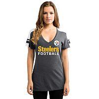 Women's Majestic Pittsburgh Steelers Dominate Tee