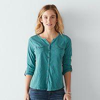 Women's SONOMA Goods for Life™ Utility Roll-Tab Shirt
