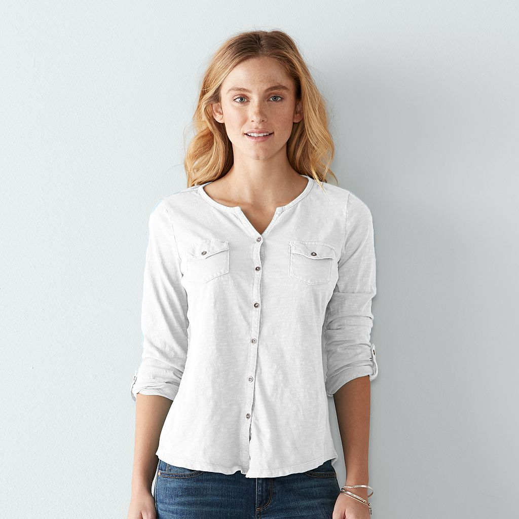 Women's SONOMA Goods for Life™ Utility Roll-Tab Shirt