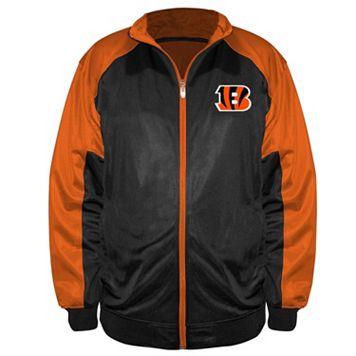 Big & Tall Majestic Cincinnati Bengals Back Track Tricot Jacket