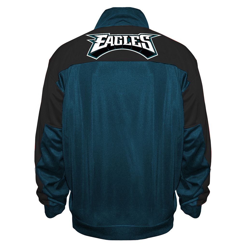 Big & Tall Majestic Philadelphia Eagles Back Track Tricot Jacket