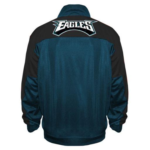 Big & Tall Majestic Philadelphia Eagles Back Track Tricot Jacket