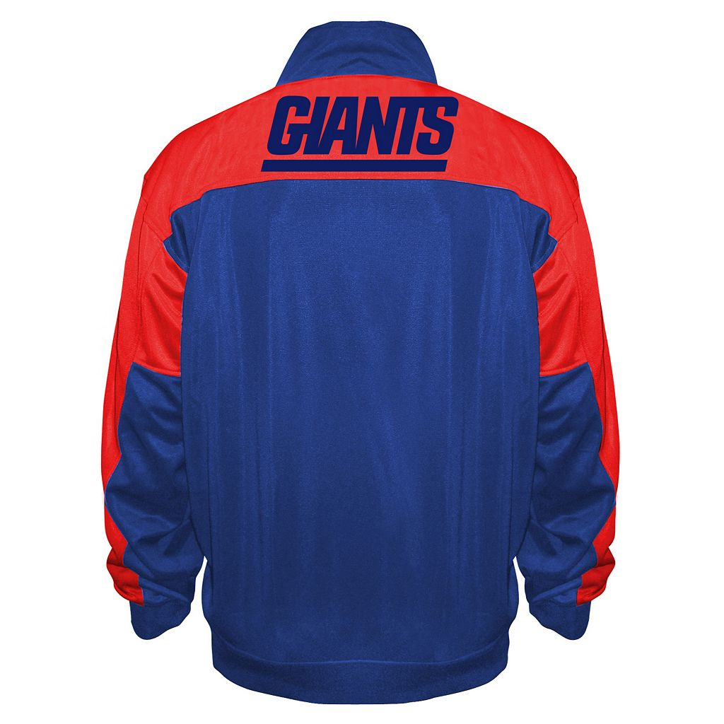 Big & Tall Majestic New York Giants Back Track Tricot Jacket