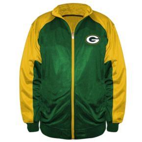 Big & Tall Majestic Green Bay Packers Back Track Tricot Jacket