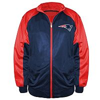 Big & Tall Majestic New England Patriots Back Track Tricot Jacket