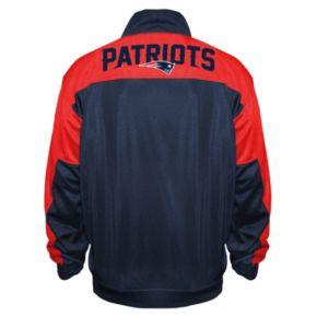 Big & Tall Majestic New EnglandPatriots Back Track Tricot Jacket