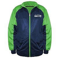 Big & Tall Majestic Seattle Seahawks Back Track Tricot Jacket