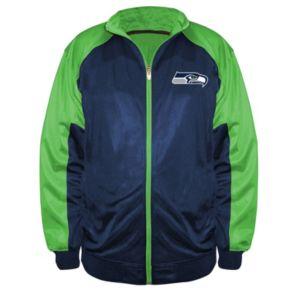Big & Tall Majestic Seattle Seahawks Back Track Tricot Jacket